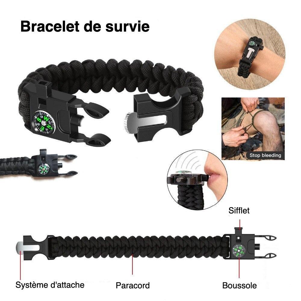 bracelet de survie du kit de survivaliste débutant