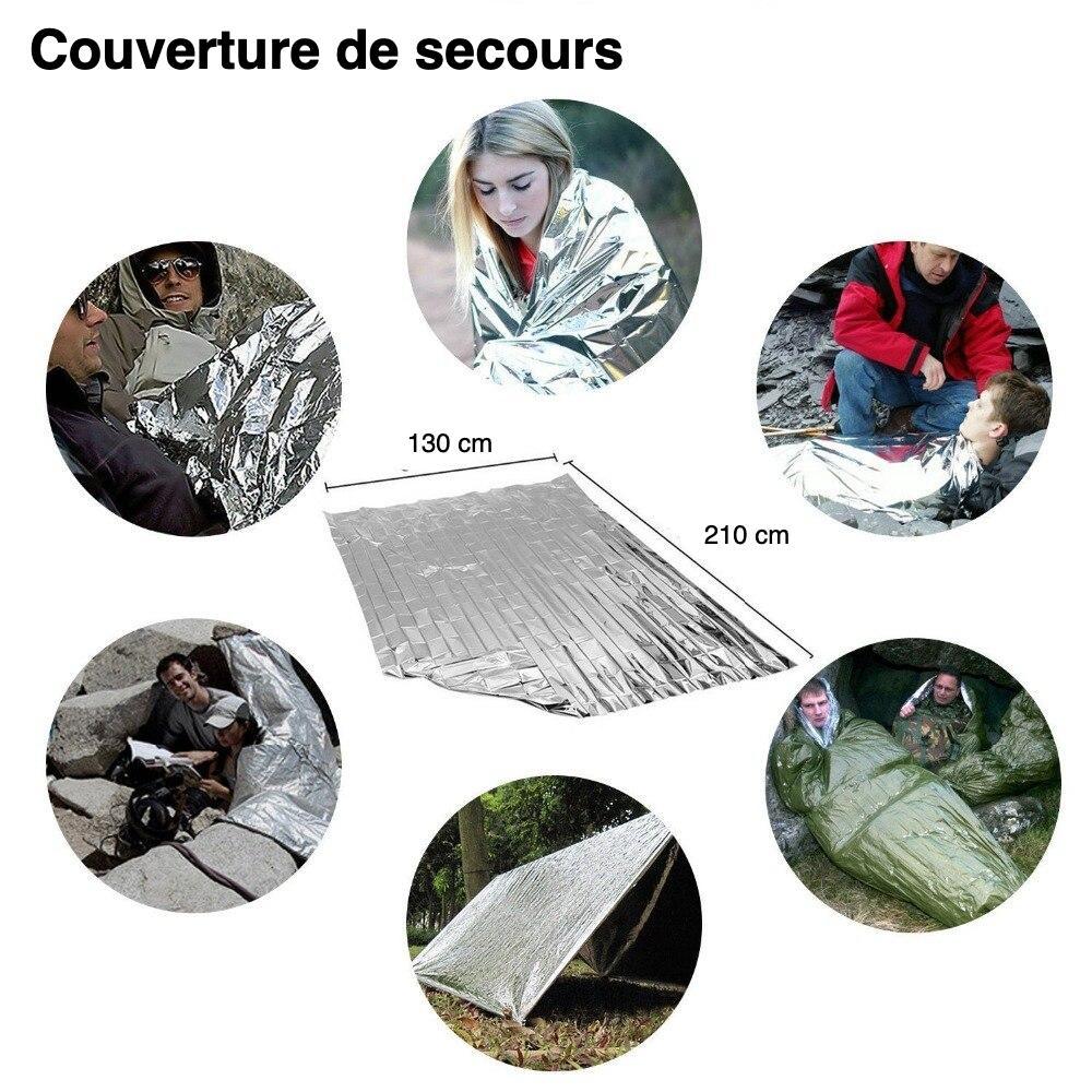 couverture de survie du kit de survivaliste débutant